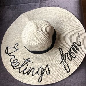 """Accessories - Never worn """"GREETINGS FROM..."""" hat"""